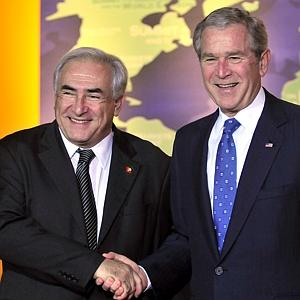 Regime Change at the IMF: The Frame Up of Dominique Strauss Kahn?  Strauss Kahn Bush